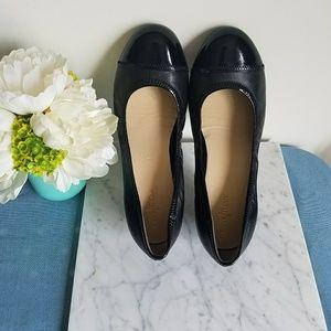 COLE HAAN Nike Air Elsie Black Leather Ballet